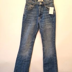 Free People NEW Aura Flare High Rise Denim Jeans